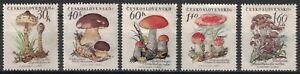 CZECHOSLOVAKIA:1958 SC#882-86 MH Mushrooms p413