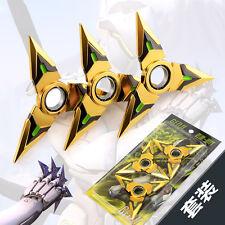 3PCS HOT Blizzard Game OVERWATCH Ninjia GENJI Weaopn Shuriken katana sword 9cm