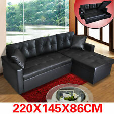 PU Leather Sofa Couch Lounge Corner Suite Chaise Furniture Set