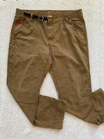 LL Bean Traverse Crag Pants Men's Fit 501152 Tan 38x30 Outdoor Wear Hiking EUC