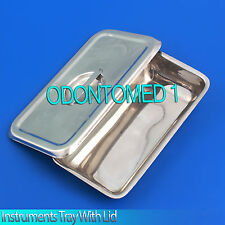 Large Instrument Tray + Lid Stainless Tattoo/Piercing Surgical Medical 12