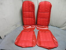 71 72 73 Mustang Deluxe Front Bucket Seat Upholstery Reproduction Vermillion Red