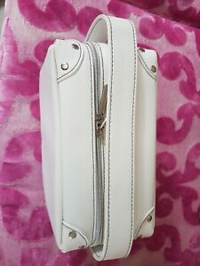 Bare Minerals White Vanity Case Makeup Cosmetics Bag only. Makeup demo