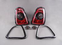 Neuf D'Origine Mini R56 R57 R58 R59 Jcw Set Noir Ligne Arrière Lampes 2320381