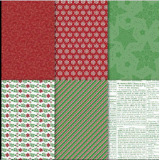 Stampin Up Retired DASHING ALONG Designer Series Paper 12 Sheets NEW Christmas