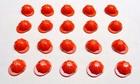x20 NEW Lego Construction Helmet City Town Minifig Headgear Red Hat