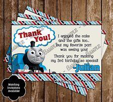 Thomas The Train Birthday Thank You Cards - 15 Printed W/envelopes