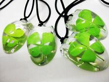 wholesale 4pcs clover green lucky Four Leaf Clover Mouse design Necklace