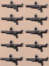 x10 NEW Lego ARMY GUNS War Weapon For Army Minifigs PERL DARK GRAY