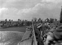 WWII Photo, US Marines Landing on Iwo Jima, WW2 USMC World War Two Pacific