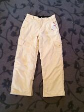 BILLABONG SNOWBOARD PANT Youth XL Beige outerwear Weather Defense System