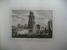 Gravure XIXè  - Sepolcro di Pompeo - Rome - Italie - Moschetti -1872