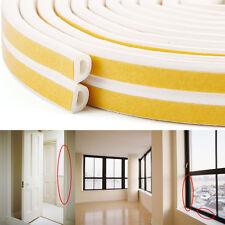6 metros Burlete Adhesivo para Puerta Ventana Self Adhesive D Type