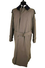 Burberry Overcoat Size 42R In Solid Brownish Green With Novacheck Liner
