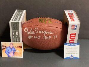 Gale Sayers Chicago Bears Autographed Signed Football HOF 77 & #40 Beckett COA