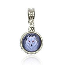 White Dire wolf Euro European Italian Style Bracelet Bead Charm