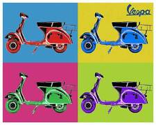 VESPA Vintage Pop Art QUALITY CANVAS PRINT Retro Scooter Poster A