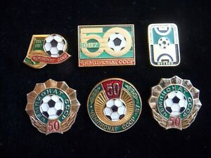 1987 Set of 6 USSR Soviet Badge The 50th USSR Football Championship