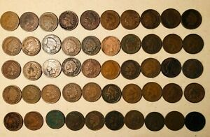 Roll of 50 Indian Head Cent Pennies