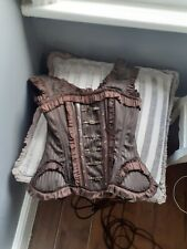 Brown Vintage Goth Steam Punk Corset size 6-8 'small'
