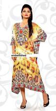 Embellished Kaftan dress  tunic sheer light material animal print free size