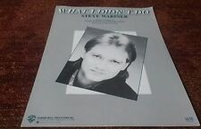 What I didn't do by Steve wariner piano vocal guitar sheet music NEW