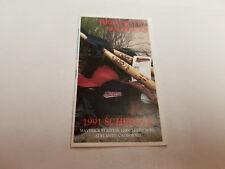 High Desert Mavericks 1991 Minor Baseball Pocket Schedule - Daily Press