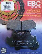 EBC/FA069 Brake Pads (Rear) - Honda NS400, FT500, VF500, CB750/900F, CBX1000