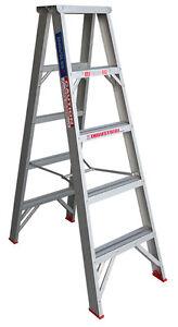 INDALEX Tradesman Aluminium Double Sided Step Ladder 5ft 1.5m