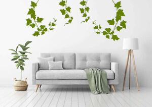 IVY PLANT VINES 4 PIECES VINYL DECAL Bedroom Living room Bathroom Wall Stickers