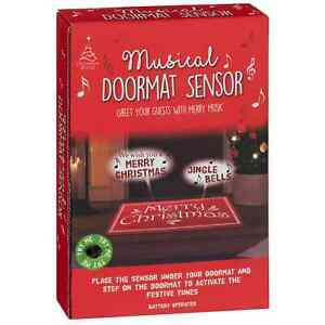 Musical Christmas Doormat Sensor Greet Your Guests With Merry Music On Xmas