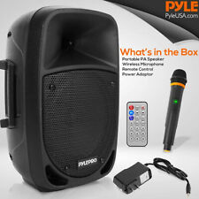 Pyle Psbt85A Bluetooth Portable Karaoke Speaker System with Wireless Microphone