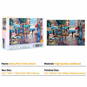 1000pcs Jigsaw Puzzle Serene Town Twilight Adult Kid Decompression Game Toy Gift