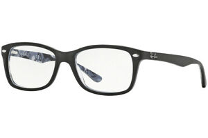 New Authentic RAY-BAN RB5228 5405 Black /Camouflage Texture Eyeglasses 53-17-140