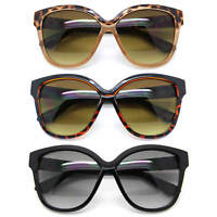 Cat Eye Oversized Retro Sunglasses Gradient Lens Women Fashion Black & Brown