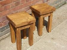 Pair of rustic bedside tables coffee table Med Oak finish free P&P bepsoke sizes