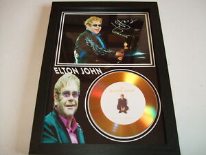 ELTON JOHN  SIGNED   GOLD DISC  DISPLAY 98