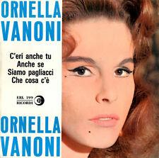 """ORNELLA VANONI c'eri anche tu +3 - 7""""EP 1962 Ricordi ERL 199 RARO"""