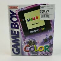 Nintendo Game Boy Color - Atomic Purple NEW Factory Sealed Box Near Mint