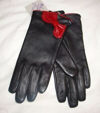 Fashion Expressions Soft Black Leather Gloves Size S