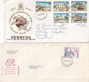 RRR5203 Bermuda 12 different First Day Covers  1962 - 1995