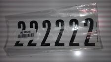 "Number Label, 2, White 3"" H, Pk 5 #34099W2 (M0980-9Ru87)"