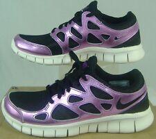 New Womens 6.5 NIKE Free Run 2 PRM EXT Purple Black Run Shoes $110 555340-001
