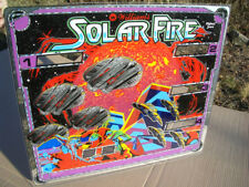 Williams Solar Fire Pinball Machine Backglass With Various Flaws Free Shipping!