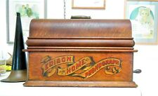 Edison Model A Home Phonograph - Red Banner, golden oak  Model C reproducer?,
