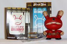 Kidrobot HUCK GEE Gold Life Dunny Fire Clan Ninja Red 1/16 KR Nunchucks Vinyl