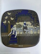 Arabia Finland Kalevala Annual Porcelain Plate - 1988