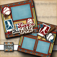 Baseball Love The Game 2 premade scrapbook pages paper piecing Boy By Digiscrap