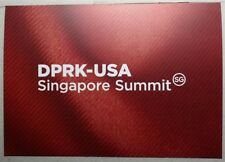 Singapore Stamp DPRK - USA Singapore Summit - Collector's Sheet with Folder