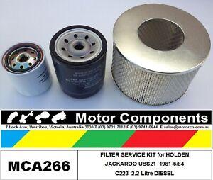 FILTER SERVICE KIT for HOLDEN JACKAROO UBS21 C223 2.2 Litre Diesel 1981-1984